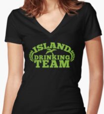ISLAND holiday DRINKING TEAM Women's Fitted V-Neck T-Shirt