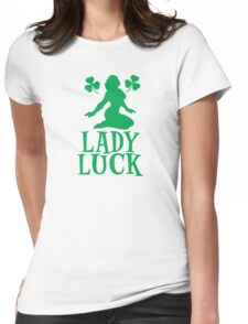 LADY LUCK with sexy lady in green with shamrocks T-Shirt