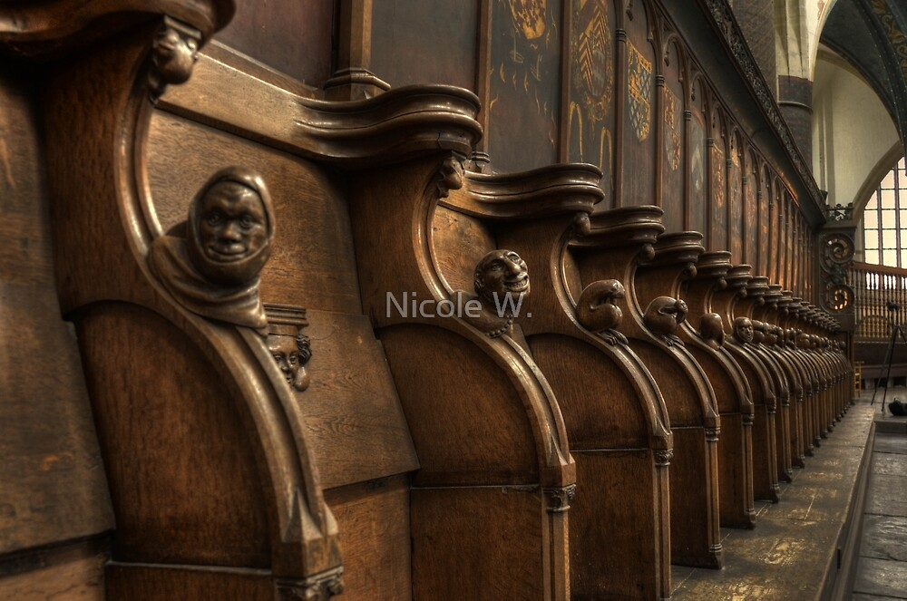church benches by Nicole W.