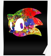 Sonic logo (painting) Poster
