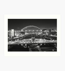Bridges of the River Tyne, Newcastle. UK Art Print