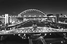 Bridges of the River Tyne, Newcastle. UK by David Lewins