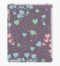 Trendy pattern with hearts iPad Case/Skin