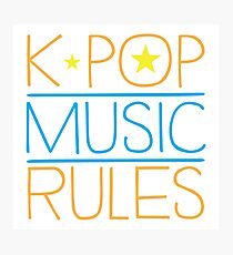 K-POP MUSIC RULES Photographic Print