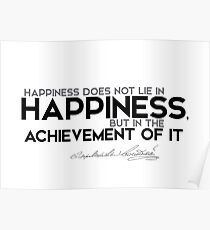 achievement of happiness - dostoevsky Poster