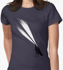 Laser crow Women's Fitted T-Shirt