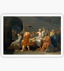 Pegatina La muerte de Sócrates