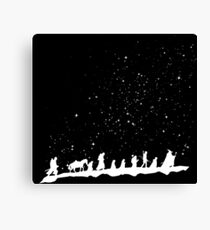 fellowship under starry sky Canvas Print