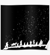 fellowship under starry sky Poster