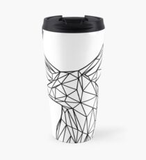 Black Wire Faceted Stag Trophy Head Travel Mug