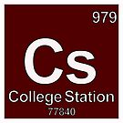 College Station Texas Periodic Table Zip Code University Area Code by MyHandmadeSigns