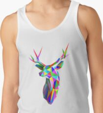 Coloured Faceted Stag Trophy Head Tank Top