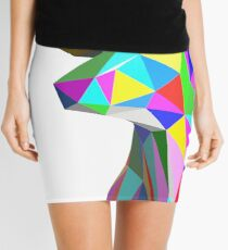 Coloured Faceted Stag Trophy Head Mini Skirt