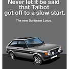 Talbot Sunbeam Lotus Classic Car advert by RJWautographics