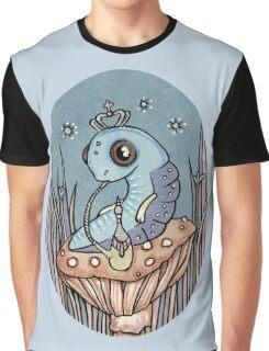 Little Blue Caterpillar Graphic T-Shirt
