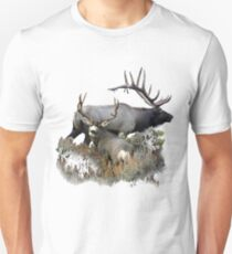 Bull elk and mule deer buck T-Shirt