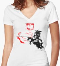 Polish Hussar Women's Fitted V-Neck T-Shirt