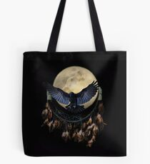 Native American Raven and Wolf Totems Tote Bag