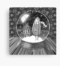 The Boy in the Snow Globe Canvas Print