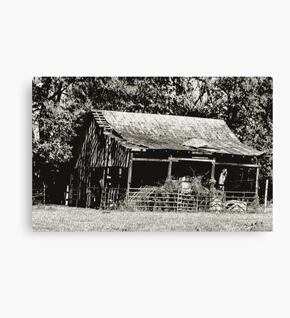 """Old Timer's Barn (B&W)""... prints and products Canvas Print"