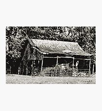 """Old Timer's Barn (B&W)""... prints and products Photographic Print"