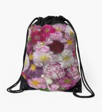 Bed of Roses Drawstring Bag