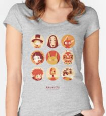 Ghibli Collection Women's Fitted Scoop T-Shirt