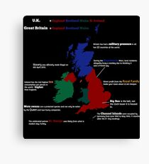 UK infographic Canvas Print