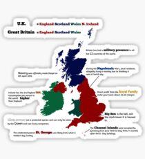 UK infographic Sticker