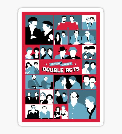 British Comedy Double Acts Sticker