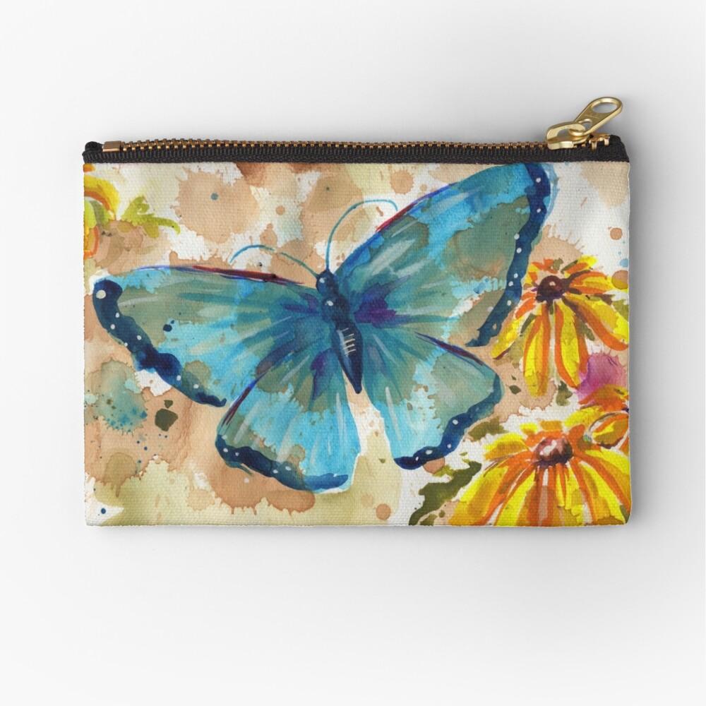 Aquarell-Schmetterling mit BlackEyedSusan Täschchen