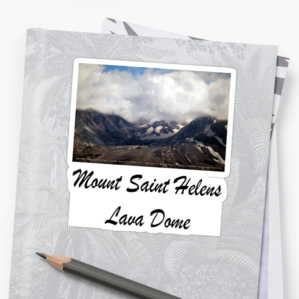 Mount St Helens lava dome by Dawna Morton