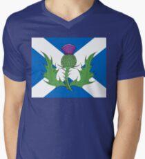 Scottish Thistle & Saltire Men's V-Neck T-Shirt