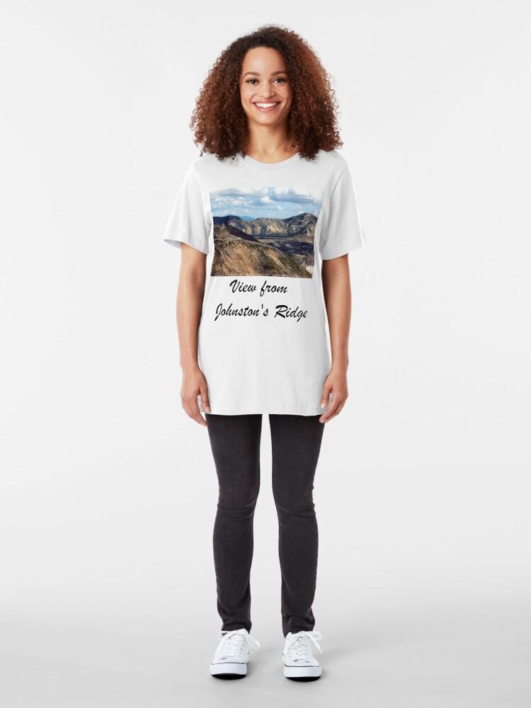 Alternate view of Lake and mountain view near Johnston's Ridge Slim Fit T-Shirt
