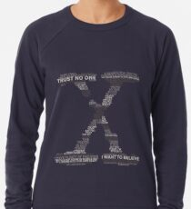 Wisdom of X-Files (Gray) Lightweight Sweatshirt