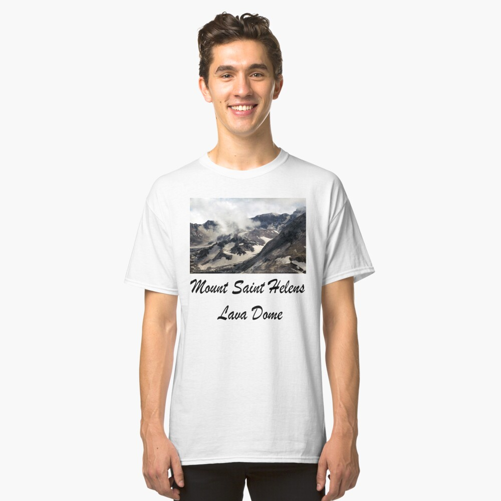 Mount St Helens lava dome closeup Classic T-Shirt