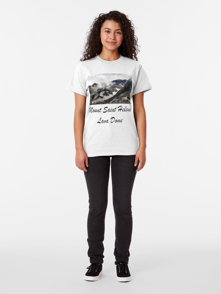 Alternate view of Mount St Helens lava dome closeup Classic T-Shirt