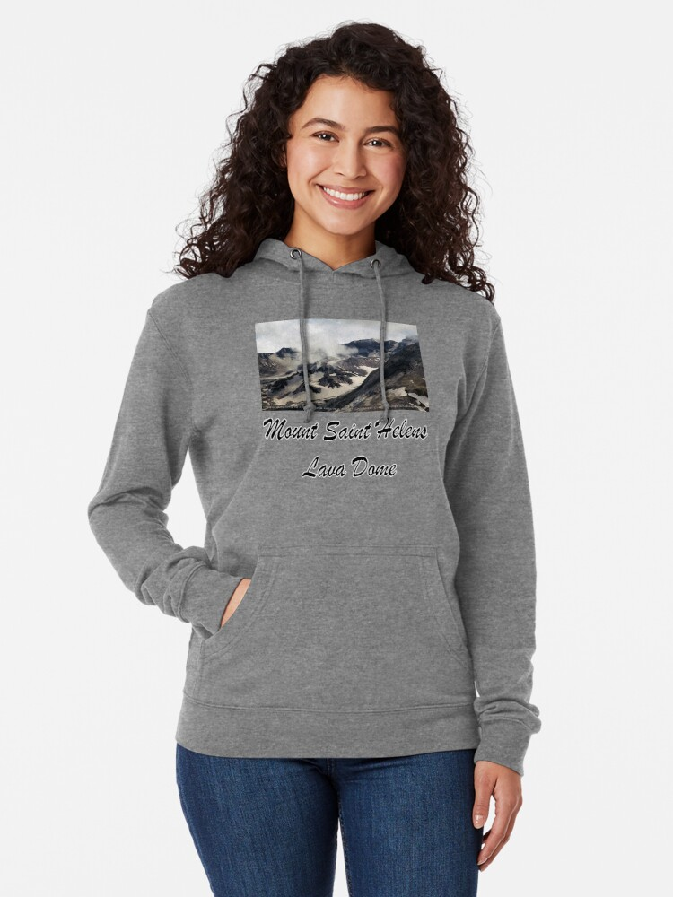 Alternate view of Mount St Helens lava dome closeup Lightweight Hoodie