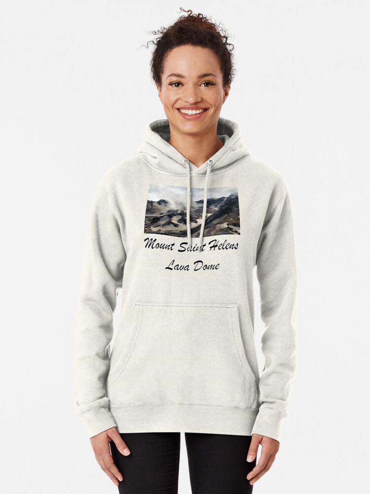Alternate view of Mount St Helens lava dome closeup Pullover Hoodie