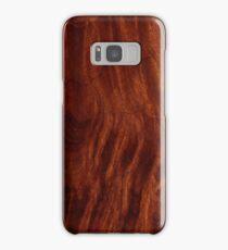 Beautiful Unique mahogany red wood veneer design Samsung Galaxy Case/Skin