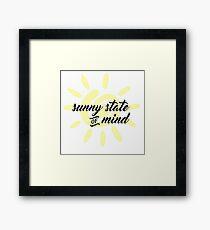 Sunny State of Mind Framed Print