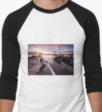 Sunset in Inverness, Scotland Men's Baseball ¾ T-Shirt