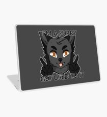 I'm a furry get used to it. Wolf version Laptop Skin