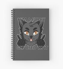I'm a furry get used to it. Wolf version Spiral Notebook