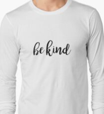 Be Kind Typography Kindness Quote T-Shirt