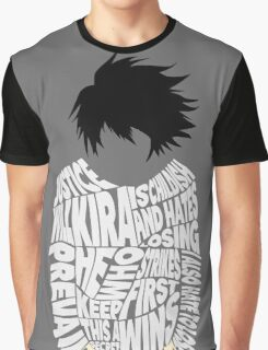 Death Note - L - Typography  Graphic T-Shirt