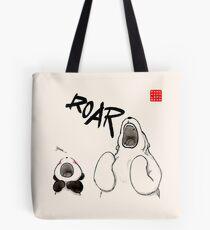 Yawn vs. Roar Tote Bag