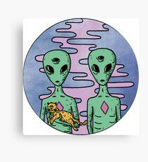 Alien Twins Canvas Print