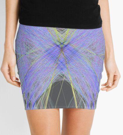 Violet Butterfly Mini Skirt
