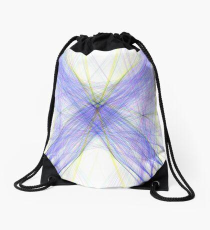 Violet Butterfly Drawstring Bag